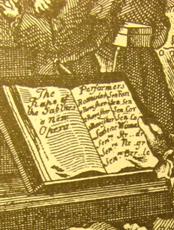 A partitúra Hogarth metszetén