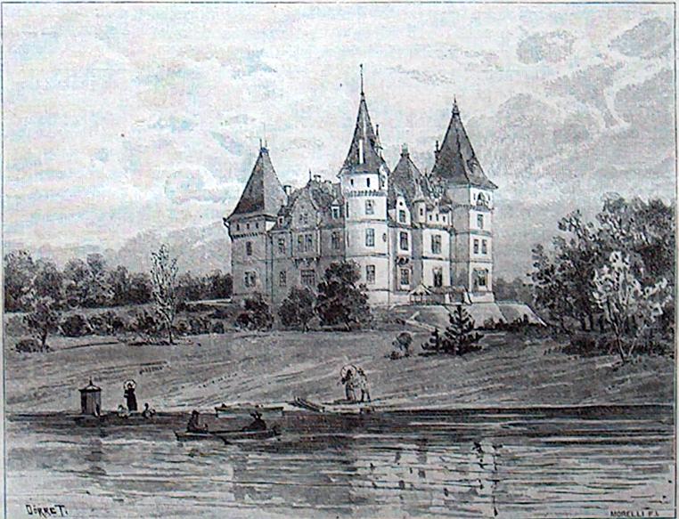 A tiszadobi kastély, 1890 előtt
