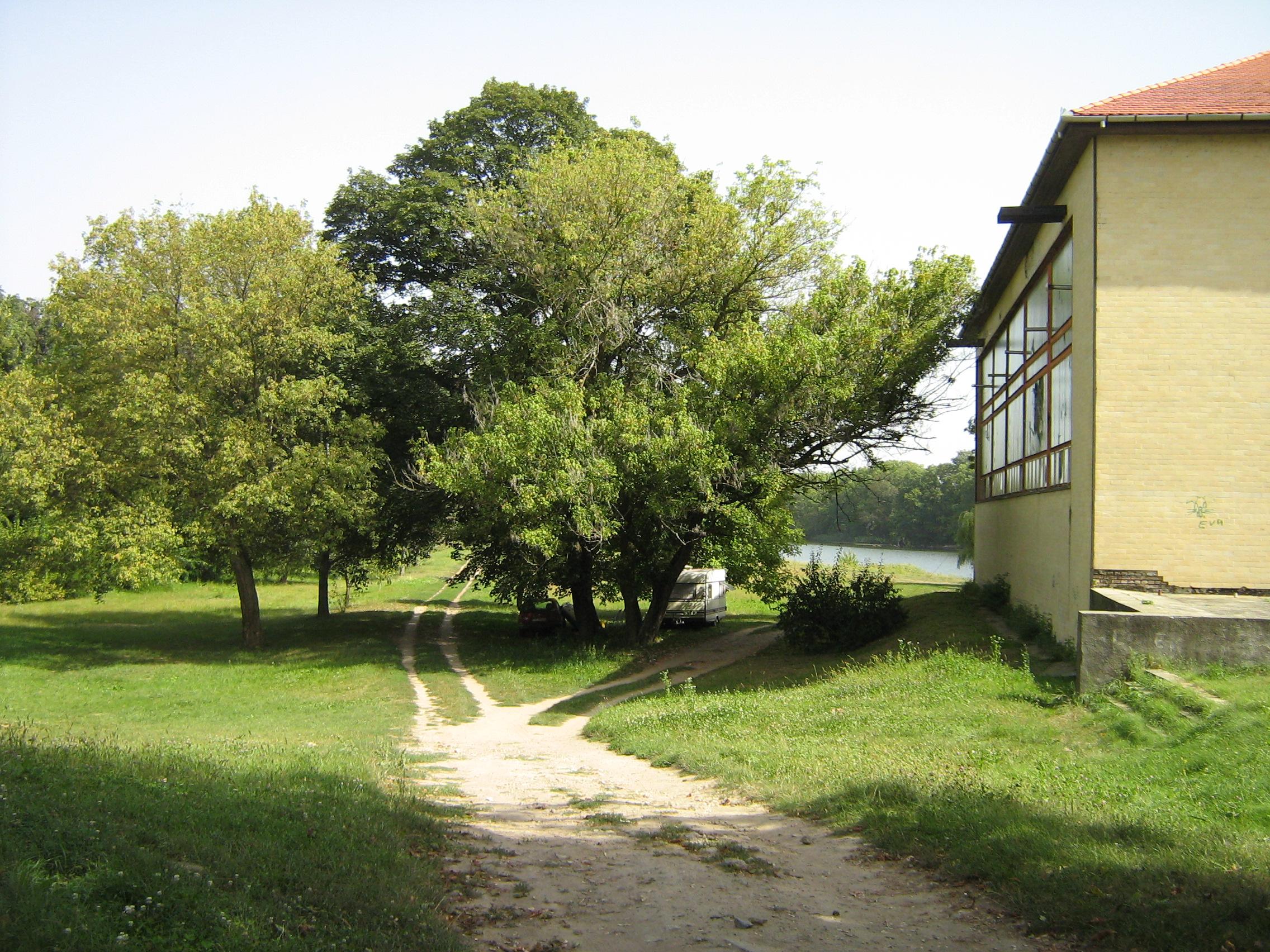 A tornaterem épülete a Holtág partján (a szerző fotója)