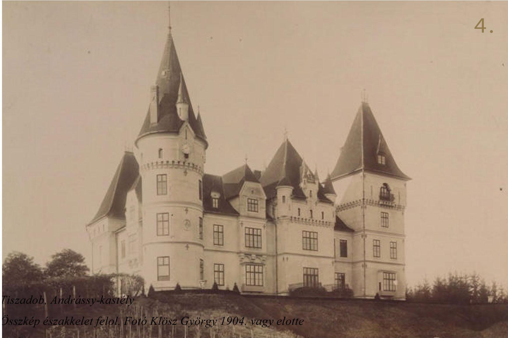 A kastély északkelet felől 1904 körül (Klösz György fotója)