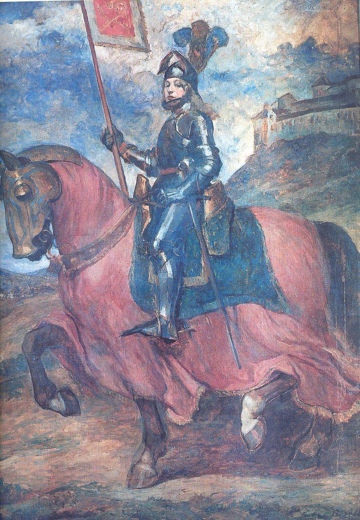 Boruth Andor: Andrássy Károly lóháton